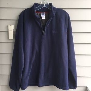 The North Face Blue Grid Fleece 1/4 Zip Pull-over